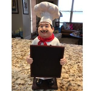 Other - Deco Resin Chef with Chalkboard
